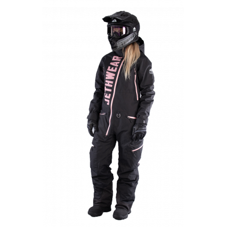 Jethwear Skoteroverall - Damoverall The One Insulated - Black/Rose